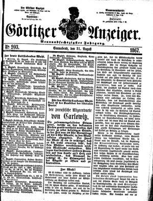 Görlitzer Anzeiger on Aug 31, 1867