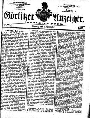 Görlitzer Anzeiger vom 01.09.1867