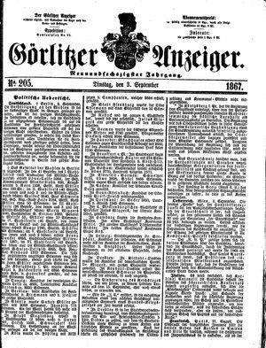 Görlitzer Anzeiger vom 03.09.1867