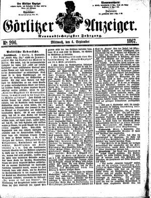 Görlitzer Anzeiger vom 04.09.1867