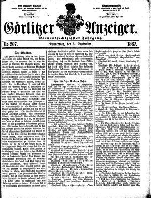 Görlitzer Anzeiger vom 05.09.1867