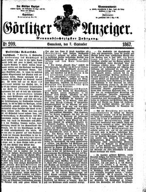 Görlitzer Anzeiger vom 07.09.1867