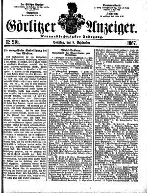 Görlitzer Anzeiger vom 08.09.1867