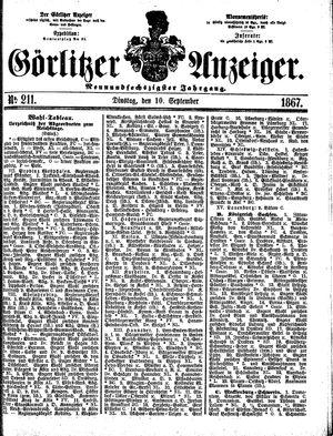 Görlitzer Anzeiger on Sep 10, 1867