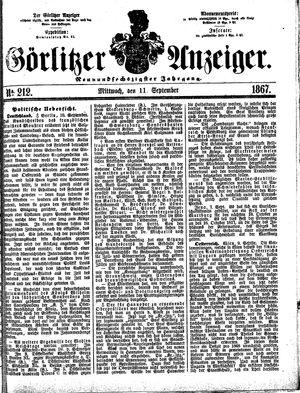 Görlitzer Anzeiger on Sep 11, 1867