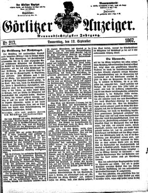 Görlitzer Anzeiger vom 12.09.1867