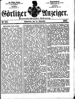 Görlitzer Anzeiger vom 14.09.1867