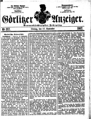 Görlitzer Anzeiger vom 17.09.1867