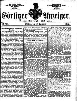 Görlitzer Anzeiger vom 18.09.1867