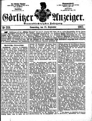 Görlitzer Anzeiger on Sep 19, 1867