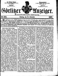 Görlitzer Anzeiger (22.09.1867)