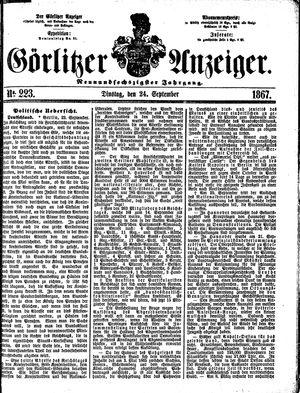 Görlitzer Anzeiger vom 24.09.1867