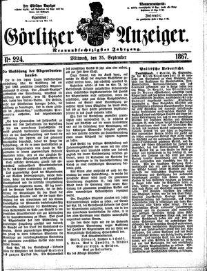 Görlitzer Anzeiger vom 25.09.1867