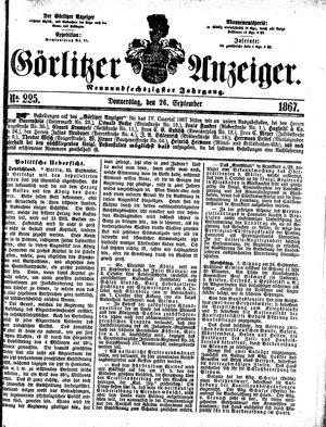 Görlitzer Anzeiger vom 26.09.1867