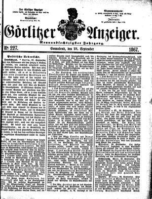 Görlitzer Anzeiger vom 28.09.1867