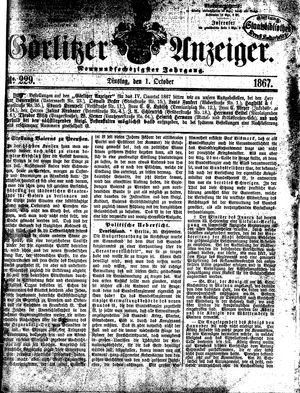 Görlitzer Anzeiger vom 01.10.1867