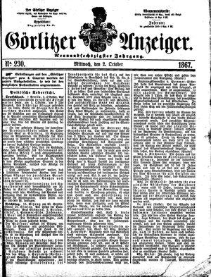 Görlitzer Anzeiger vom 02.10.1867
