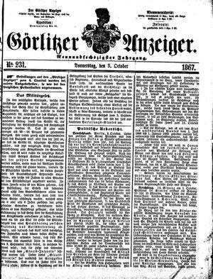 Görlitzer Anzeiger vom 03.10.1867