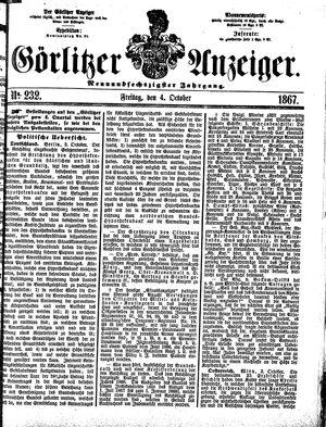 Görlitzer Anzeiger on Oct 4, 1867