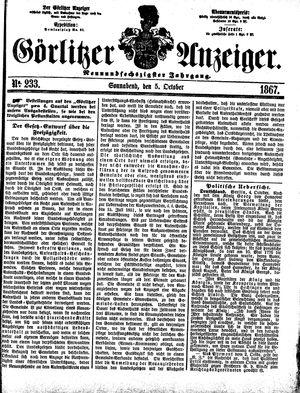 Görlitzer Anzeiger vom 05.10.1867