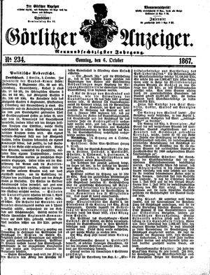 Görlitzer Anzeiger vom 06.10.1867
