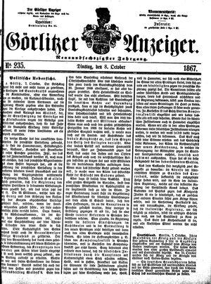 Görlitzer Anzeiger vom 08.10.1867