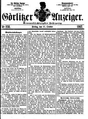 Görlitzer Anzeiger vom 11.10.1867