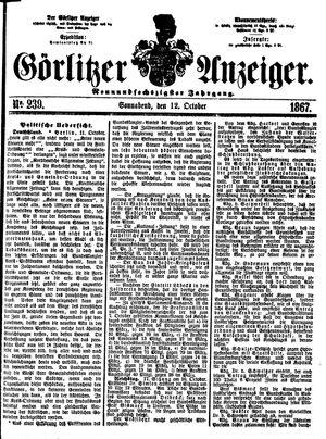 Görlitzer Anzeiger vom 12.10.1867