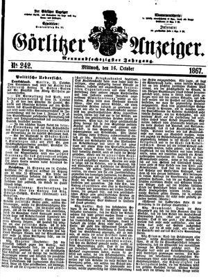 Görlitzer Anzeiger vom 16.10.1867