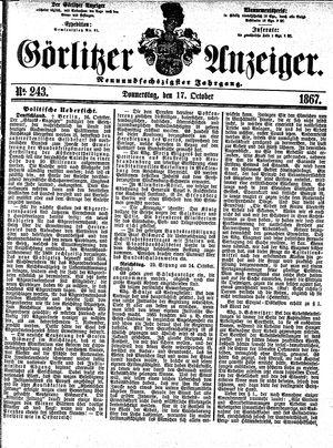 Görlitzer Anzeiger vom 17.10.1867