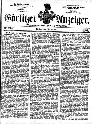 Görlitzer Anzeiger vom 18.10.1867