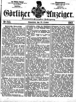 Görlitzer Anzeiger vom 19.10.1867