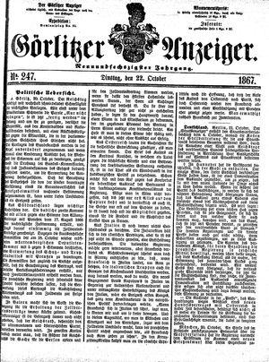 Görlitzer Anzeiger vom 22.10.1867