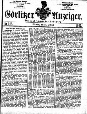Görlitzer Anzeiger on Oct 23, 1867