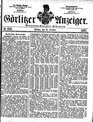 Görlitzer Anzeiger on Oct 25, 1867