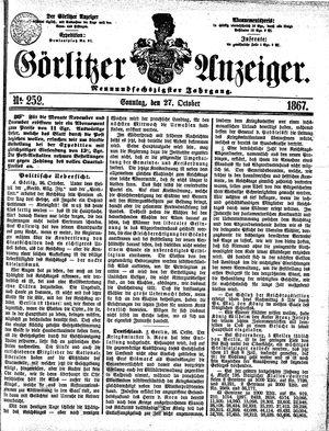 Görlitzer Anzeiger vom 27.10.1867