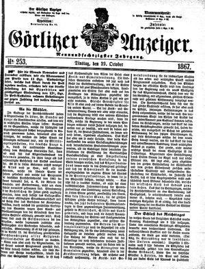 Görlitzer Anzeiger vom 29.10.1867