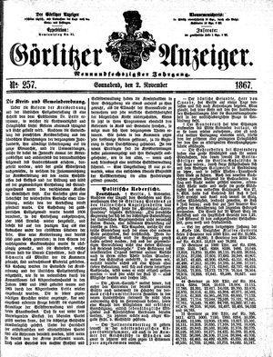 Görlitzer Anzeiger vom 02.11.1867