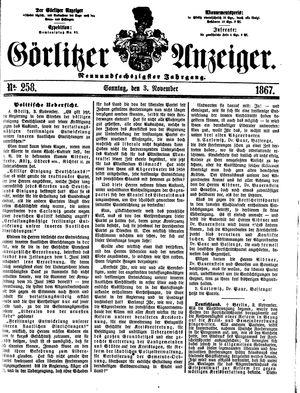 Görlitzer Anzeiger vom 03.11.1867