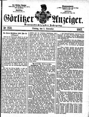 Görlitzer Anzeiger vom 05.11.1867