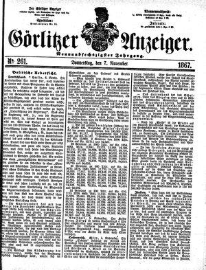 Görlitzer Anzeiger vom 07.11.1867