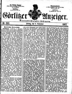 Görlitzer Anzeiger vom 08.11.1867