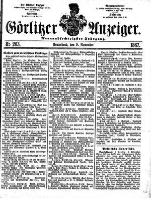 Görlitzer Anzeiger vom 09.11.1867
