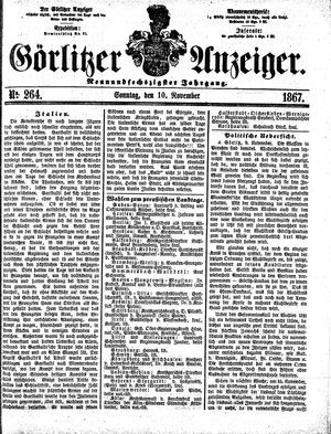 Görlitzer Anzeiger vom 10.11.1867
