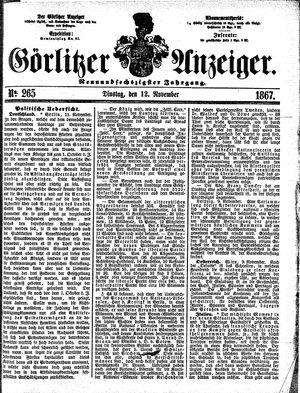 Görlitzer Anzeiger vom 12.11.1867
