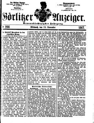 Görlitzer Anzeiger vom 13.11.1867