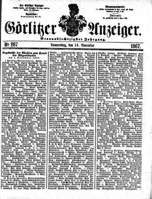 Görlitzer Anzeiger vom 14.11.1867