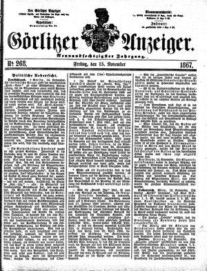 Görlitzer Anzeiger vom 15.11.1867
