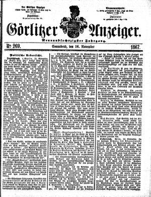 Görlitzer Anzeiger vom 16.11.1867