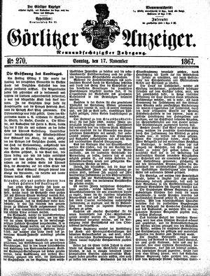 Görlitzer Anzeiger vom 17.11.1867